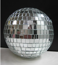 Mirror ball hire for centrepieces