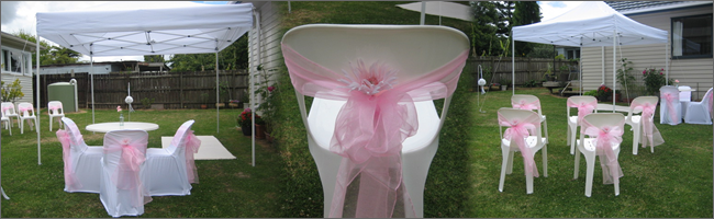 Christening in garden styled by Helium Balloons & Event Hire, Auckland, NZ