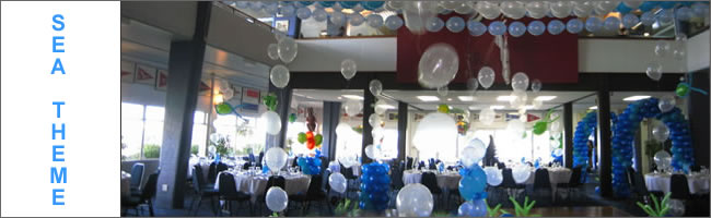 Underwater themed event styled by Helium Balloons & Event Hire, Auckland, Nz