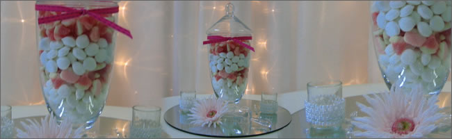 Candy jars for hire, Auckland centrepiece hire