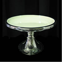 Large round white and silver pedestal cake stand . Wedding cake stand hire Auckland