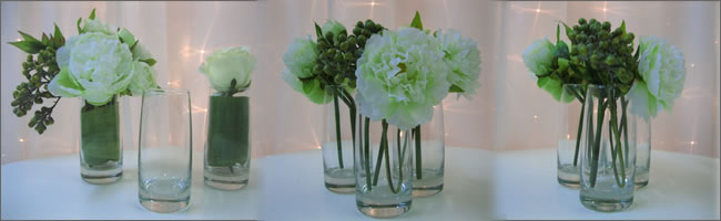 Flower bud vases for hire, Auckland