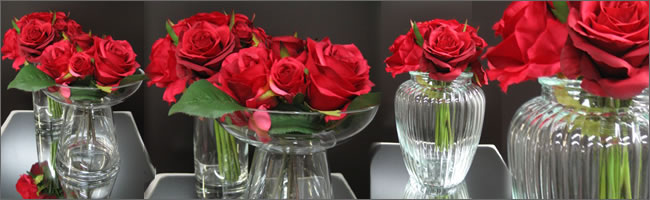 Red rose wedding centrepiece for  hire