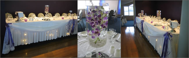 Orchid wedding centrepiece for hire, Auckland Vase Hire