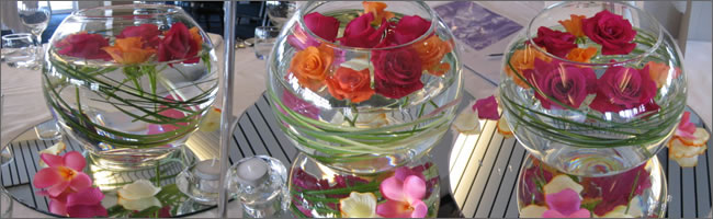 Tropical wedding centrepiece for hire, Auckland
