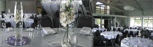 White orchid centrepiece for  hire. Ideal wedding tables.