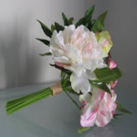 Soft pink peony flower bouquet for hire