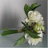 White peony wedding bouquet for hire