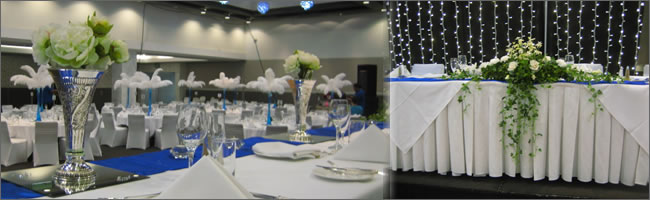 Head table centrepiece for hire, Auckland.