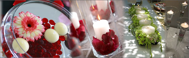 We can supply your wedding head table decorations in your