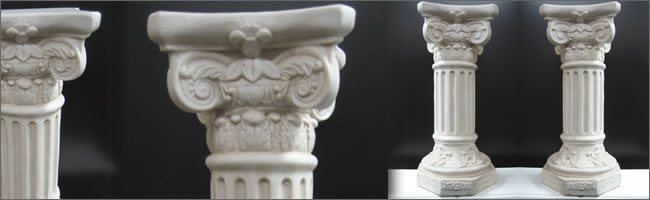 Decorative pillars for hire for weddings and events, Centrepiece Hire