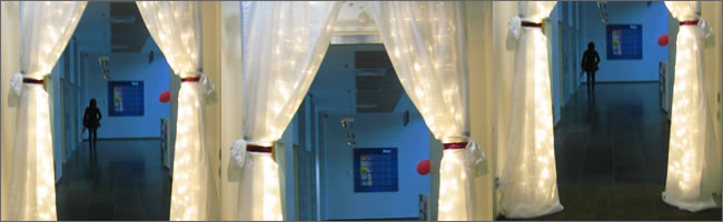 Fairy light curtain hire