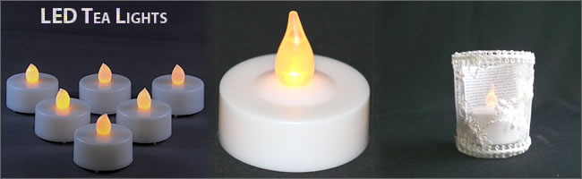 LED tealights for hire