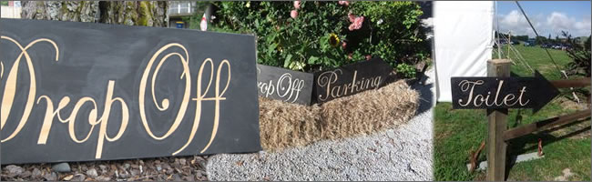 Wedding signs for hire, rent ,  Auckland