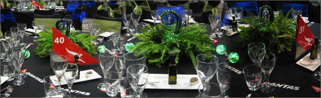 Koru and fern centrepiece hire, Auckland