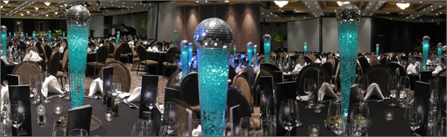 Award themed lighted LED centrepiece for hire, Centrepieces