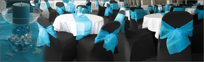 Colour themed centrepieces for hire, Auckland