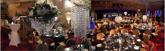 Wedding and event stylists table centrepiece hire auckland great gatsby themed event junglespirit Images