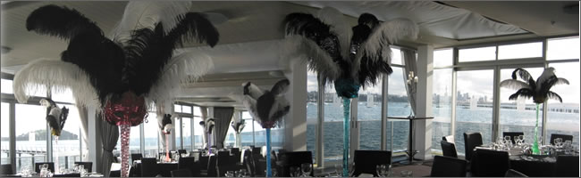 Masquerade themed centrepieces for hire, Centrepieces