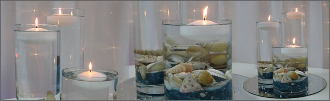 Seashell table centrepiece for hire, Auckland