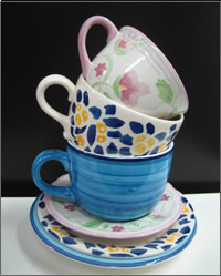 Alice in Wonderland giant cup and saucer hire, Themed table props