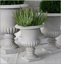 Table urns for hire for themed events, Centrepieces