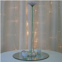 Eiffel tower vases for hire, centrepieces, Auckland