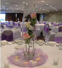 60cm tall oval vase hire, centrepieces, Auckland