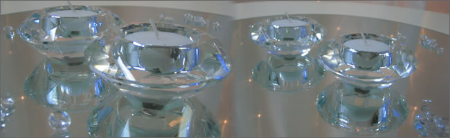 Diamond  crystal tealights for hire