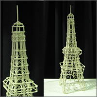 Eiffel tower, French  Centrepiece hire, Centrepieces, Auckland