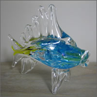 Giant glass fish centrepiece prop for hire, Centrepieces, Auckland