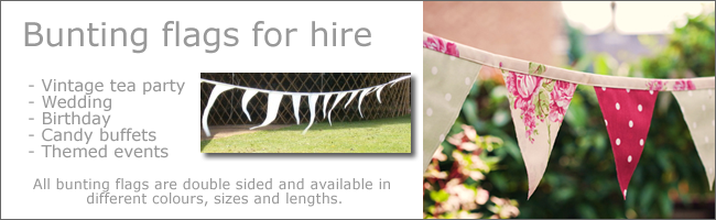 Bunting flags for outdoor weddings, Auckland Hire