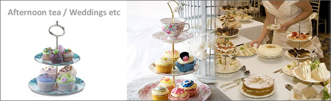 Vintage teacup trios and vintage cake stands for hire, Auckland CBD