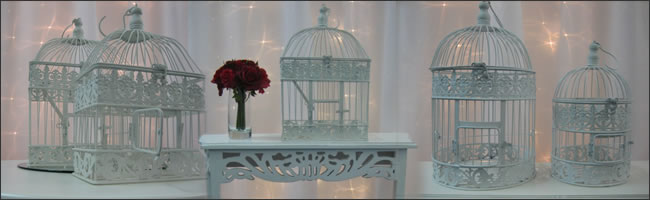 Wedding decorative birdcages for hire, Auckland